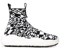 High-Top-Sneakers mit Karomuster