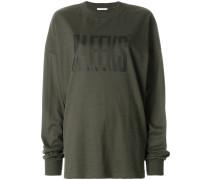 front print oversized sweatshirt