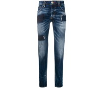 Gerade Jeans mit Patches