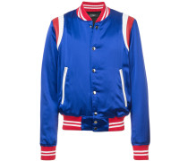 tri-colour teddy jacket