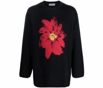 floral-print crew neck jumper