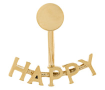"""Ohrring mit """"Happy""""-Aufschrift"""