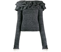 Pullover mit Rüschenborten