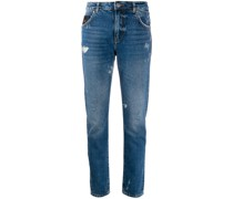 Distressed-Jeans mit geradem Bein