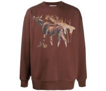"Sweatshirt mit ""Okapi""-Print"