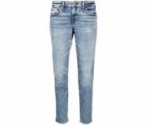 Skinny-Jeans mit Acid-Wash-Effekt