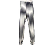 striped jogger-style trousers