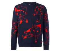 Sweatshirt mit Würfel-Print
