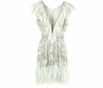 Ginger feathered chiffon dress