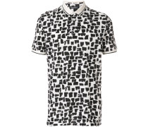 abstract pattern polo shirt