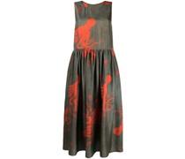 Langes Empire-Kleid mit Tintenfisch-Print