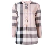 'House Check' Hemd mit Rüschen