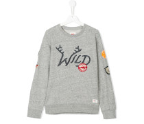 Teen wild patchwork sweatshirt