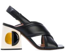 Sandalen mit Design-Absatz - Unavailable