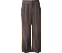- checked cropped trousers - women