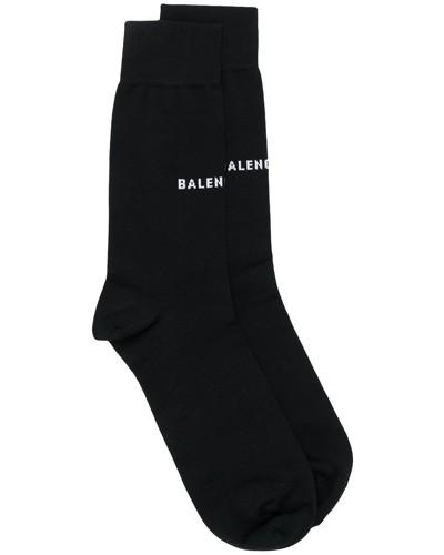 Gestrickte Socken mit Logo