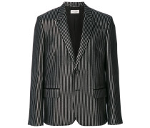 striped metallic blazer