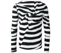 distorted stripes print jumper