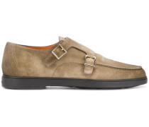 side buckle monk shoes