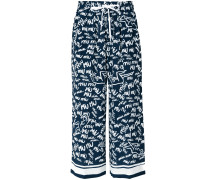 monogram signature trousers