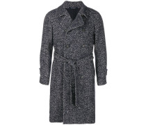 belted woven coat