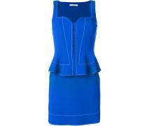 peplum waist fitted dress