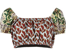 Cropped-Top mit Print - women - Polyester - 42
