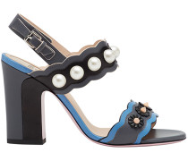 faux-pearl embellished sandals