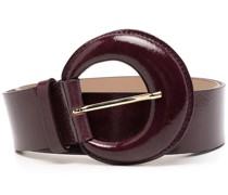 round-buckle leather belt