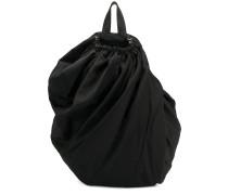 drawstring draped backpack