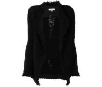 shawl collar open cardi-coat