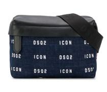 Jeans-Gürteltasche mit Logo