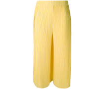 pleated cropped trousers - women - Polyester