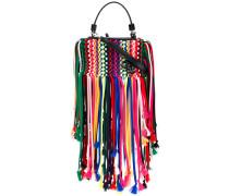 - macrame shoulder bag - women - Baumwolle/Leder