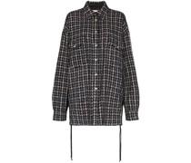 Oversized-Hemd aus Tweed