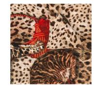 Schal mit Katzen-Print