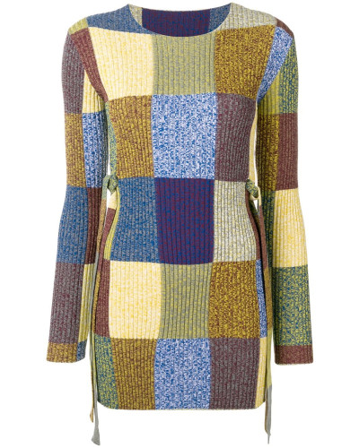 Strickkleid im Patchwork-Look