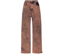 Boyfriend-Jeans mit Bleached-Effekt