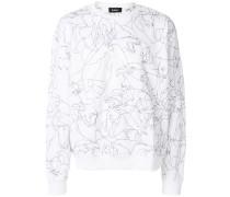 Animal sketch sweater