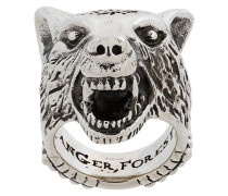 Anger Forest wolf head ring