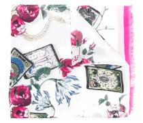 floral-print scarf