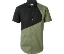 Hemd in Colour-Block-Optik
