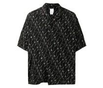 abstract-print shirt