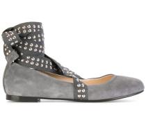 Flex studded strap ballerina shoes