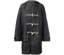 Jeans-Dufflecoat mit Kapuze