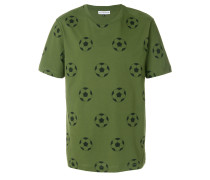 T-Shirt mit Fußball-Muster
