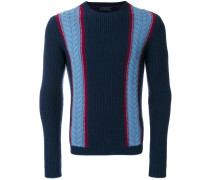 Pullover mit Zopfmusterdetail