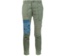 'GL1 Slim-fit Army' trousers