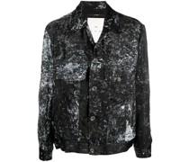 paint splatter-print shirt jacket
