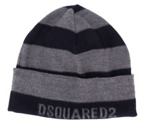 Gestreifte Jacquard-Mütze
